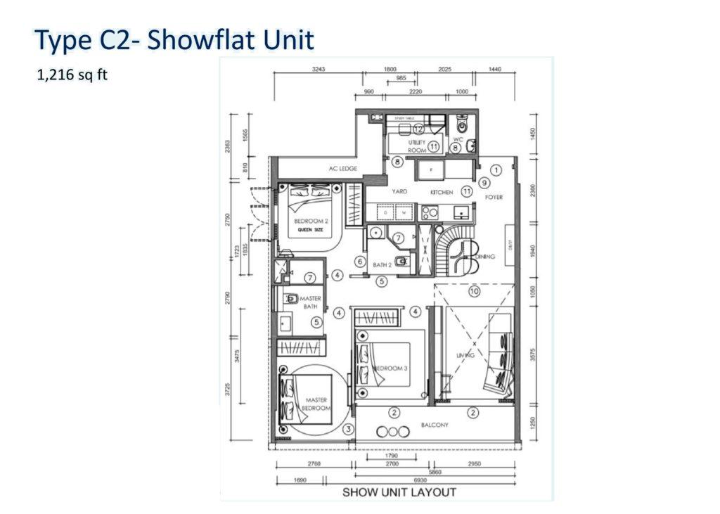 Nyon Condo @ 12 Amber Road - Floor Plan